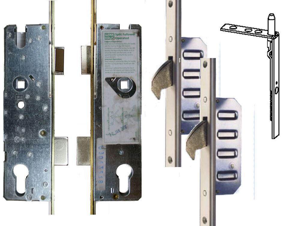 2 Hook French Door 16mm Faceplate 1660 (WH23)  sc 1 st  UK Door Locks : door faceplate - pezcame.com